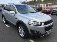 USED 2013 63 CHEVROLET CAPTIVA 2.2 LTZ VCDI 7 SEAT AUTO 184 BHP Top spec LTZ inc leather, Sat Nav, camera, 7 seats & more. With FSH