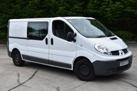 USED 2011 61 RENAULT TRAFIC 2.0 LL29 DCI S/R W/V 6d 115 BHP LWB 6 SEATER COMBI/CREW VAN  ONE OWNER,FSH,AIR CON,SAT NAV.EURO 5 ENGINE