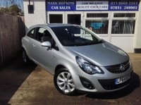 USED 2014 64 VAUXHALL CORSA 1.4 EXCITE AC 3d 98 BHP 5K FSH. ONE LADY DRIVER. HEATED SEATS & STEERING WHEEL