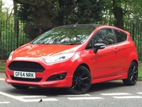2014 FORD FIESTA 1.0 ZETEC S RED EDITION 3d 139 BHP £9995.00