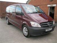 2014 MERCEDES-BENZ VITO 2.1 116 CDI TRAVELINER 5d AUTO 163 Xtra  LWB 9 Seats £16500.00
