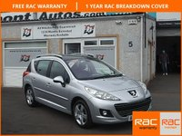 USED 2009 59 PEUGEOT 207 1.6 SW SPORT 5d 120 BHP 6 Service Stamps , Panoramic Glass Roof , Bluetooth