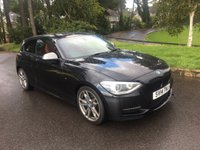 USED 2014 14 BMW 1 SERIES 3.0 M135I 3d 316 BHP 2 OWNERS 38000 MILES FSH BLACK WITH RED LEATHER