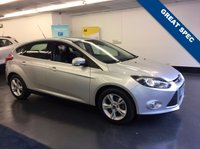 USED 2014 63 FORD FOCUS 1.6 ZETEC 5d 104 BHP FULL FORD SERVICE HISTORY, HANDS FREE BLUETOOTH PHONE, IN CAR ENTERTAINMENT WITH RADIO,CD,AUX AND USB
