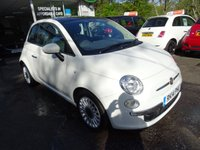 USED 2014 14 FIAT 500 0.9 TWINAIR LOUNGE 3d 85 BHP Very Low Mileage, Full Service History (Fiat + ourselves), One Lady Owner from new, MOT until March 2018 (no advisories), Superb on fuel! FREE Road Tax!