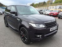 USED 2013 63 LAND ROVER RANGE ROVER SPORT 3.0 SDV6 HSE 5d AUTO 288 BHP Barolo Black metallic with Black perforated leather & Cream secondary, glass panoramic sunroof.