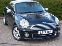 USED 2013 13 MINI COUPE 1.6 COOPER 2d AUTO 120 BHP NEED FINANCE? POOR CREDIT WE CAN HELP! JUST ASK! STUNNING SPORTY 2 SEAT MINI AUTO!!