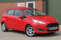 USED 2014 14 FORD FIESTA 1.5 ZETEC TDCI 5d 74 BHP AIR CONDITIONING, ALLOY WHEELS, HEATED WINDSCREEN, FULL FORD SERVICE HISTORY