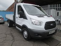 2014 FORD TRANSIT 350 L2 Single Cab One Stop Alloy Tipper *ONE OWNER*42000 MILES* £14995.00