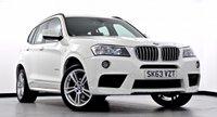 """USED 2013 63 BMW X3 3.0 30d M Sport xDrive 5dr Auto Pro Media Pk, DAB Radio, 19""""s"""