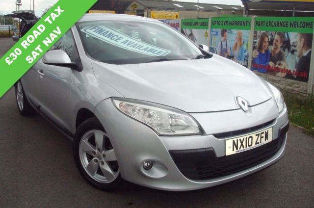 2010 10 RENAULT MEGANE 1.5 DYNAMIQUE TOMTOM DCI 5d 106 BHP £30 A YEAR ROAD TAX