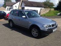 USED 2006 06 BMW X3 2.0 D SE 5d 148 BHP PRICE INCLUDES A 6 MONTH RAC WARRANTY, 1 YEARS MOT AND A OIL & FILTERS SERVICE AND 12 MONTHS FREE BREAKDOWN COVER.