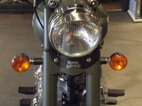 USED 2019 ROYAL ENFIELD 500 CLASSIC BATTLE GREEN CLASSIC ARMY COLOUR