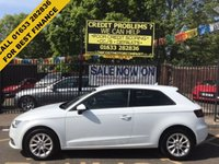 USED 2015 15 AUDI A3 1.6 TDI SE 3d 109 BHP 1 OWNER, LOW MILEAGE, AUDI HISTORY, STUNNING GLACIER WHITE PAINT, LOVELY BLACK MARATHON CLOTH INTERIOR, BLUE TOOTH, CONNECTIVITY PACKAGE,  ALLOY WHEELS, AIR CONDTIONING,