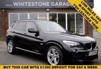 USED 2011 61 BMW X1 2.0 XDRIVE20D M SPORT 5d AUTO 174 BHP LOW MILEAGE WITH FULL DEALER SERVICE HISTORY  RED LEATHER