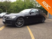 USED 2007 57 BMW 3 SERIES 3.0 330D M SPORT 5d AUTO 228 BHP BLACK HEATED LEATHER FULL BLACK LEATHER, HEATED SEATS, SERVICE HISTORY