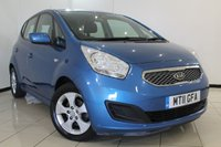 USED 2011 11 KIA VENGA 1.4 CRDI 2 ECODYNAMICS 5DR 89 BHP FULL SERVICE HISTORY + 0% FINANCE AVAILABLE T&C'S APPLY + AIR CONDITIONING + MULTI FUNCTION WHEEL + RADIO/CD + 16 INCH ALLOY WHEELS