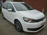 USED 2013 13 VOLKSWAGEN TOURAN 1.6 SE TDI BLUEMOTION TECHNOLOGY 5d 103 BHP Extra Spec Car