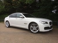 "USED 2013 13 BMW 7 SERIES 3.0 730D M SPORT 4d AUTO 255 BHP FANTASTIC SPEC, PROFESSIONAL NAV, 20"" M DOUBLE SPOKE WHEELS, DAB, PRIVACY GLASS, PARK DISTANCE CONTROL, HIGH BEAM ASSIST, B-TOOTH, ELECTRIC FRONT SEATS."