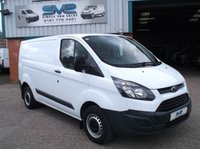USED 2014 14 FORD TRANSIT CUSTOM SWB IN WHITE WITH 77,000 MILES 100bhp 6 SPEED IN MINT CONDITION
