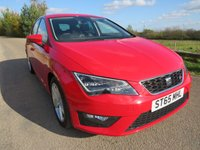 USED 2015 65 SEAT LEON 2.0 TDI FR TECHNOLOGY (VAT QUALIFYING)  FULL MAIN DEALER HISTORY!
