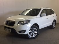 USED 2010 10 HYUNDAI SANTA FE 2.2 PREMIUM CRDI 5d 194 BHP 4WD 7 SEATER LEATHER PRIVACY FSH 4WD. 7 SEATER. STUNNING WHITE WITH FULL BLACK LEATHER TRIM. ELECTRIC HEATED SEATS. CRUISE CONTROL. 18 INCH ALLOYS. COLOUR CODED TRIMS. PRIVACY GLASS. PARKING SENSORS. CLIMATE CONTROL. TRIP COMPUTER. R/CD PLAYER. MFSW. 6 SPEED MANUAL. TOWBAR. MOT 04/18. ONE PREV OWNER. FULL SERVICE HISTORY. PRISTINE CONDITION. FCA FINANCE APPROVED DEALER. TEL 01937 849492