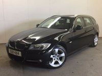 USED 2011 11 BMW 3 SERIES 2.0 320D EXCLUSIVE EDITION TOURING 5d 181 BHP LEATHER PDC STUNNING BLACK MET WITH FULL BLACK LEATHER TRIM. HEATED SEATS. CRUISE CONTROL. 17 INCH ALLOYS. COLOUR CODED TRIMS. PARKING SENSORS. BLUETOOTH PREP. CLIMATE CONTROL. TRIP COMPUTER. R/CD PLAYER. 6 SPEED MANUAL. MFSW. MOT 04/18. SERVICE HISTORY. PRISTINE CONDITION. FCA FINANCE APPROVED DEALER. TEL 01937 849492.