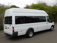 USED 2014 14 FORD TRANSIT 430 2.2TDCI 140BHP LWB EXTRA HIGH ROOF 17 SEATER TWIN WHEEL MINI BUS E/W+PRIVACY+1 OWNER+