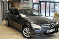 USED 2013 63 MERCEDES-BENZ C CLASS 2.1 C220 CDI BLUEEFFICIENCY EXECUTIVE SE 5d 168 BHP FULL MERCEDES BENZ SERVICE HISTORY + 0% FINANCE AVAILABLE T&C'S APPLY + SAT NAV + HALF BLACK LEATHER SEATS + PARKING GUIDANCE + CRUISE CONTROL + 16 INCH ALLOYS + LED DRL'S