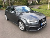 USED 2014 14 AUDI A3 2.0 TDI S LINE 5d AUTO 148 BHP 2 OWNERS S-LINE AUTOMATIC TDI 5 DOOR WITH SAT NAV AND ONLY 22000 MILES FSH