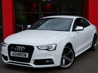 USED 2014 14 AUDI S5 3.0 TFSI QUATTRO S LINE BLACK EDITION 2d AUTO 330 S/S UPGRADE PARKING SYSTEM PLUS FRONT & REAR WITH DISPLAY, UPGRADE ELECTRIC FOLDING HEATED DOOR MIRRORS, S TRONIC AUTOMATIC GEARBOX, QUATTRO 4X4, FULL 2 TONE LEATHER, CRUISE CONTROL, BANG & OLUFSEN SOUND SYSTEM, DAB RADIO, AUDI MUSIC INTERFACE (AMI), BLUETOOTH PHONE, 19 INCH ROTOR ALLOY WHEELS, LED XENON LIGHTS, ELECTRIC SEATS, LEATHER FLAT BOTTOM MULTI FUNCTION STEERING WHEEL, TIPTRONIC PADDLE SHIFT, 1 OWNER FROM NEW, FULL AUDI SERVICE HISTORY