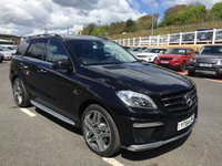USED 2014 64 MERCEDES-BENZ M CLASS ML63 AMG 5.5 Bi-Turbo Auto 525 BHP Mega spec in panoramic sunroof, 21 inch, rear entertainment plus more. Only 21,000 miles
