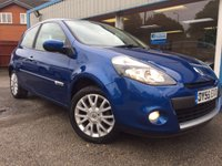USED 2009 59 RENAULT CLIO 1.1 TOMTOM EDITION 3d 74 BHP LOW MILEAGE, FULL SERVICE HISTORY, SAT NAV!!! AIR CON