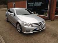 USED 2012 62 MERCEDES-BENZ E CLASS 2.1 E220 CDI BLUEEFFICIENCY SPORT 2d AUTO 170 BHP APPROVED CARS ARE PLEASED TO OFFER THIS MERCEDES BENZ E220 SPT CDI BLUE EFFICIENCY IN METALLIC SILVER WITH FULL DOCUMENTED SERVICE HISTORY AT  14K, 28K, 39K AND 55K.A STUNNING CAR IN STUNNING CONDITION.