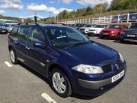 USED 2005 55 RENAULT MEGANE ESTATE 1.9 DYNAMIQUE DCI 5d 130 BHP Blue with Grey trim, A/C, CD, 6 speed gearbox, alloys, roof bars
