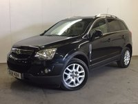 USED 2012 12 VAUXHALL ANTARA 2.2 EXCLUSIV CDTI 5d 161 BHP 4WD LEATHER PRIVACY ONE OWNER PDC 4WD. STUNNING BLACK MET WITH PART BLACK LEATHER TRIM. HEATED SEATS. CRUISE CONTROL. 18 INCH ALLOYS. COLOUR CODED TRIMS. PRIVACY GLASS. PARKING SENSORS. CLIMATE CONTROL. R/CD PLAYER. 6 SPEED MANUAL. DETACHABLE TOWBAR. MOT 04/18. ONE OWNER FROM NEW. SERVICE HISTORY. PRISTINE CONDITION. FCA FINANCE APPROVED DEALER. TEL 01937 849492.