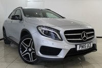 "USED 2015 15 MERCEDES-BENZ GLA-CLASS 2.1 GLA200 CDI 4MATIC AMG LINE PREMIUM 5DR AUTOMATIC 134 BHP HEATED HALF LEATHER SEATS + 0% FINANCE AVAILABLE T&C'S APPLY + 4X4 + CLIMATE CONTROL + REVERSE CAMERA + BLUETOOTH + CRUISE CONTROL + 19"" AMG SPOKE WHEELS ALL-ROUND"