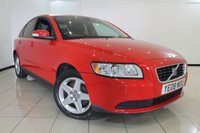 USED 2008 08 VOLVO S40 1.6 S 4DR 100 BHP CLIMATE CONTROL + 0% FINANCE AVAILABLE T&C'S APPLY + RADIO/CD + ELECTRIC WINDOWS + ELECTRIC/HEATED MIRRORS + ALLOY WHEELS