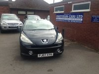 USED 2007 07 PEUGEOT 207 1.6 SPORT COUPE CABRIOLET 2d 118 BHP COUPE CABRIOLET