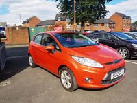 USED 2012 12 FORD FIESTA 1.4 ZETEC 16V 5d AUTO 96 BHP LOW CO2 EMISSIONS(154G/KM)..LOW ROAD TAX!..FULL FORD HISTORY!!..ONLY 6242 MILES FROM NEW!!..WITH PARKING SENSORS!!...ALLOY WHEELS!!...AND FRONT HEATED WINDSCREEN!!.
