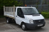 USED 2011 61 FORD TRANSIT 2.4 T350 RWD 2d 115 BHP MWB DIESEL MANUAL TIPPER VAN  ONE OWNER,ONLY 57541 ML,EURO 4 ENGINE