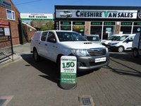 USED 2014 14 TOYOTA HI-LUX 2.5 4X4 D-4D DOUBLE CAB 142 BHP LOW MILES A/C LOW 33000 MILES SUPERB CONDITION