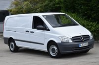 USED 2014 63 MERCEDES-BENZ VITO 2.1 116 CDI 6d 163 BHP LWB EURO 5 AIR CON DIESEL PANEL MANUAL VAN ONE OWNER F/SH SPARE KEY AIR CONDITIONING