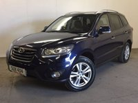 USED 2011 11 HYUNDAI SANTA FE 2.2 PREMIUM CRDI 5d 194 BHP 4WD 7 SEATER LEATHER PRIVACY 4WD. 7 SEATER. STUNNING BLUE MET WITH FULL BLACK LEATHER TRIM. ELECTRIC HEATED SEATS. CRUISE CONTROL. 18 INCH ALLOYS. COLOUR CODED TRIMS. PRIVACY GLASS. PARKING SENSORS. CLIMATE CONTROL. TRIP COMPUTER. R/CD PLAYER. 6 SPEED MANUAL. MFSW. MOT 01/18. PRISTINE CONDITION. FCA FINANCE APPROVED DEALER. TEL 01937 849492