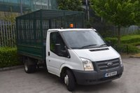 USED 2012 12 FORD TRANSIT 2.2 T350 RWD 2D 99 BHP MWB DIESEL MANUAL CAGED TIPPER VAN ONE OWNER,ONLY 33702 ML,EURO 5