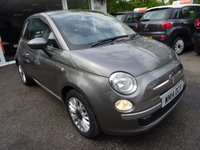 USED 2014 14 FIAT 500 1.2 LOUNGE 3d 69 BHP Full Service History, Just Serviced by ourselves, MOT until June 2018 (no advisories), One Previous Owner, Great on fuel! Only £30 Road Tax!