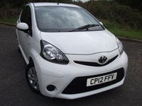 USED 2012 12 TOYOTA AYGO 1.0 VVT-I ICE 5d 68 BHP ** 1 OWNER ,ONLY 29K , £0 TAX BAND **