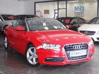 USED 2012 62 AUDI A5 CABRIOLET 1.8 TFSI SE 2d AUTO 168 BHP BANG-OLUFSEN+LEATHER+FASH+