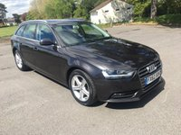 USED 2012 62 AUDI A4 AVANT 2.0 AVANT TDI SE 5d AUTO 141 BHP AUTOMATIC 2 OWNER ESTATE WITH SAT NAV AND FSH