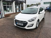 USED 2012 62 HYUNDAI I30 1.6 ACTIVE BLUE DRIVE CRDI 5d 109 BHP ZERO £££ ROAD TAX, BLUETOOTH, Full Service History, 1 Former Keeper.